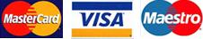 Visa, Maestro, MasterCard
